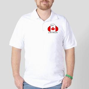 Canada Curling Golf Shirt