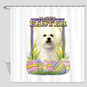 Easter Egg Cookies - Bichon Shower Curtain