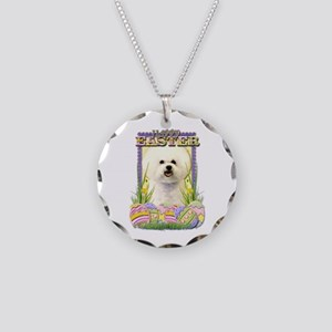Easter Egg Cookies - Bichon Necklace Circle Charm