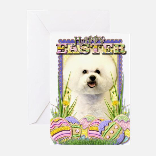 Easter Egg Cookies - Bichon Greeting Cards (Pk of