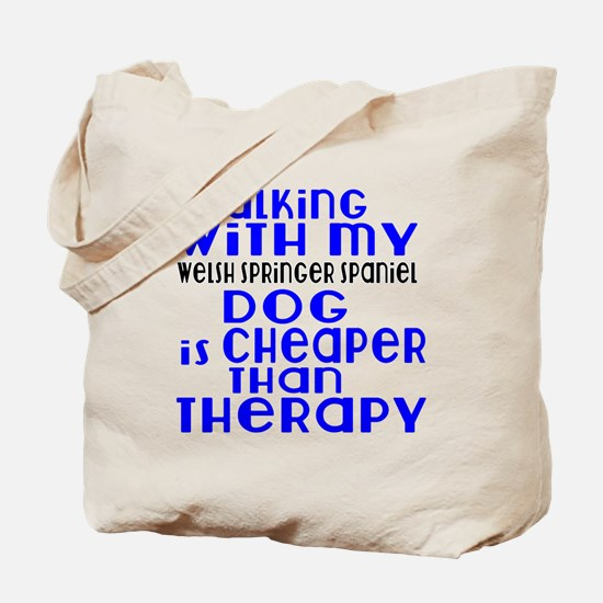 Walking With My Welsh Springer Spaniel Do Tote Bag