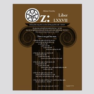 "Liber Oz 16x20"" Poster - Olive"