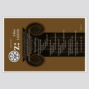 "Liber Oz 35x23"" Poster - Olive"
