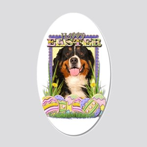 Easter Egg Cookies - Bernie 22x14 Oval Wall Peel