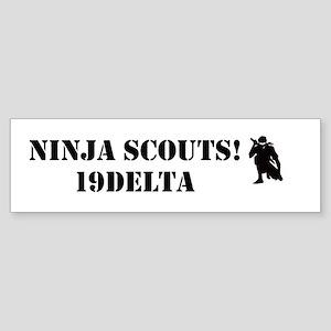 Ninja Scouts Bumper Sticker