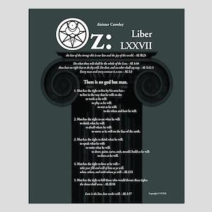 """Liber Oz 16x20"""" Poster - Slate"""
