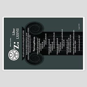 """Liber Oz 35x23"""" Poster - Slate"""