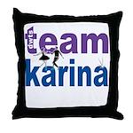 DWTS Team Karina Throw Pillow