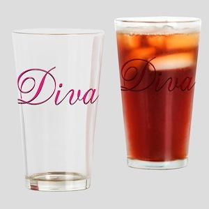 Diva - Drinking Glass