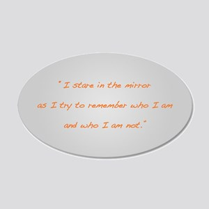 Hunger Games Quote Oval Grey Wall Peel