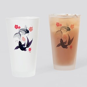 Yin and Yang Koi and Cherry B Drinking Glass