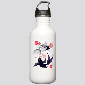 Yin and Yang Koi and Cherry B Stainless Water Bott