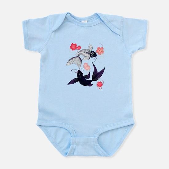 Yin and Yang Koi and Cherry B Infant Bodysuit