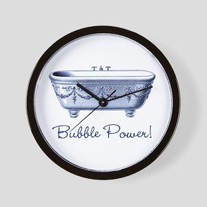Bubble Power (blue) Wall Clock
