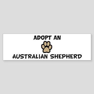 Adopt an AUSTRALIAN SHEPHERD Bumper Sticker