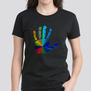 Hand / Peace Sign Women's Dark T-Shirt