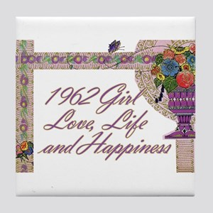 50th Birthday Gifts, 1962 Tile Coaster