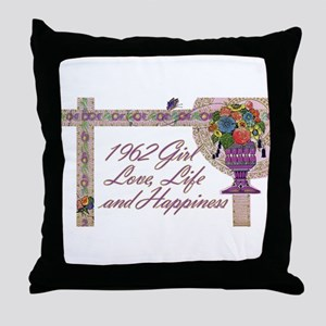 50th Birthday Gifts, 1962 Throw Pillow
