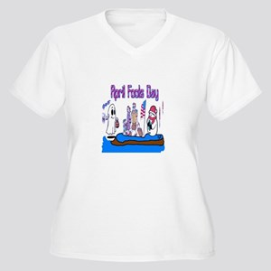 April Fools MIX UP Women's Plus Size V-Neck T-Shir