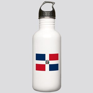 Dominica Republic Flag Stainless Water Bottle 1.0L