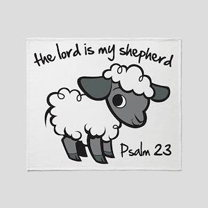 The Lord is my Shepherd Throw Blanket