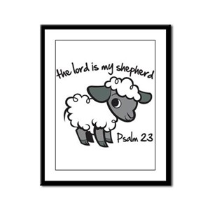The Lord is my Shepherd Framed Panel Print