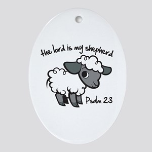 The Lord is my Shepherd Ornament (Oval)