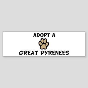 Adopt a GREAT PYRENEES Bumper Sticker