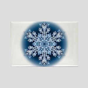 Snowflake 32 Rectangle Magnet