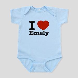 I love Emely Infant Bodysuit