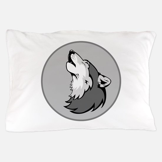 Wolf in Shades of Gray. Pillow Case