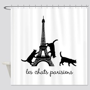 Paris Cats Shower Curtain