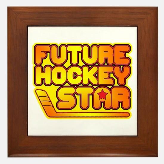 Future Hockey Star Framed Tile