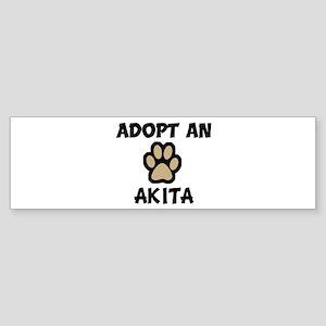 Adopt an AKITA Bumper Sticker