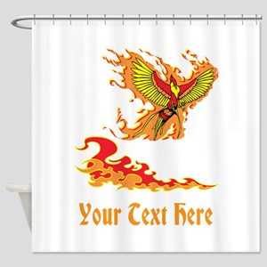 Phoenix and Custom Text. Shower Curtain