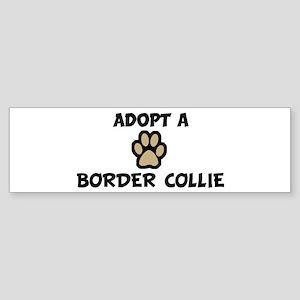 Adopt a BORDER COLLIE Bumper Sticker