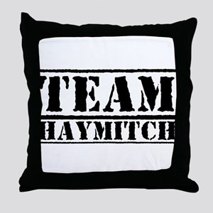 Team Haymitch Throw Pillow