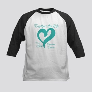 Personalizable Ovarian Cancer Kids Baseball Jersey