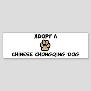 Adopt a CHINESE CHONGQING DOG Bumper Sticker