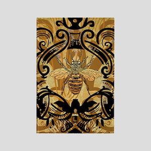 Golden Bee Garden Rectangle Magnet