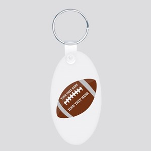 Football Customized Aluminum Oval Keychain