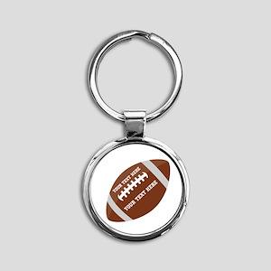 Football Customized Round Keychain