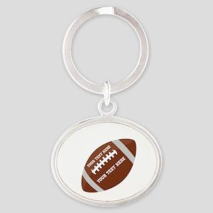 Football Customized Oval Keychain