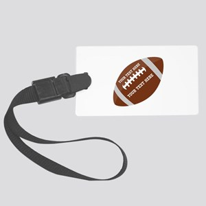 Football Customized Large Luggage Tag