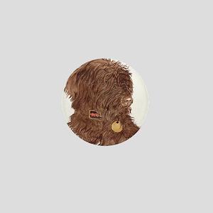 Chocolate Labradoodle Xena Mini Button