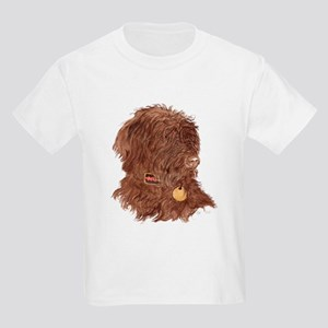 Chocolate Labradoodle Xena Kids Light T-Shirt
