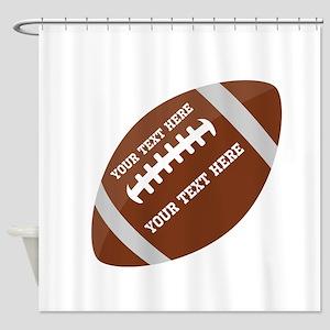 Football Customized Shower Curtain