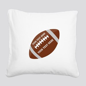 Football Customized Square Canvas Pillow