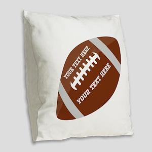 Football Customized Burlap Throw Pillow