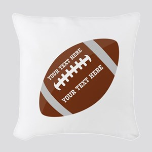 Football Customized Woven Throw Pillow